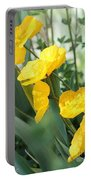 Yellow Iceland Poppy Portable Battery Charger