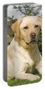 Yellow Labrador Portable Battery Charger