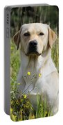 Yellow Labrador Retriever Portable Battery Charger