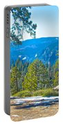 Yosemite Valley Mountainside From Sentinel Dome Trail In Yosemite Np-ca Portable Battery Charger