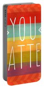 You Matter Portable Battery Charger by Linda Woods