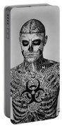 Zombie Boy Rick Genest Portable Battery Charger by Carlos Velasquez Art