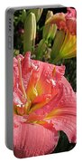 Zona Rosa Daylily Portable Battery Charger