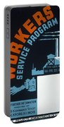 New Deal Wpa Poster Portable Battery Charger