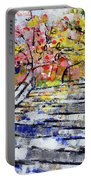 2014 19 Silver And Blue Stairs To Pink And Yellow Woods Srpsko Sarajevo Portable Battery Charger