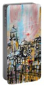 2014 23 City Street With Church At Sunset Srpsko Sarajevo Portable Battery Charger
