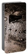 Skulls And Bones In The Catacombs Of Paris France Portable Battery Charger