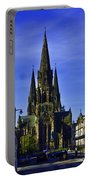 View Of Episcopal Cathedral In Edinburgh Portable Battery Charger