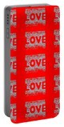 25 Affirmations Of Love In Red Portable Battery Charger