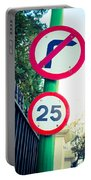 25 Mph Road Sign Portable Battery Charger