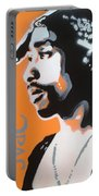 2pac In Orange Portable Battery Charger