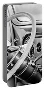 1933 Pontiac Steering Wheel -0463bw Portable Battery Charger