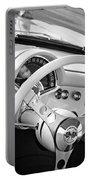 1957 Chevrolet Corvette Steering Wheel Emblem Portable Battery Charger