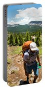 A Backpacker Hiking Portable Battery Charger