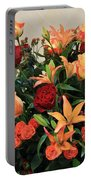A Gallery's Flowers Portable Battery Charger