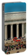Abraham Lincoln Memorial In Washington Dc Usa Portable Battery Charger