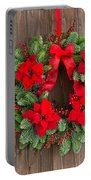 Advent Wreath With Winter Rose Portable Battery Charger