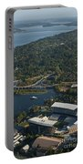 Aerial View Of The New Husky Stadium Portable Battery Charger