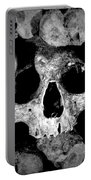 Altered Image Of Skulls And Bones In The Catacombs Of Paris France Portable Battery Charger