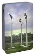 3 Angels Statue Philadelphia Portable Battery Charger