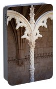 Architectural Details Of Jeronimos Monastery In Lisbon Portable Battery Charger