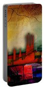 Barcelona Spain Skyline Watercolor Portable Battery Charger