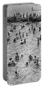 Bathers At Coney Island Portable Battery Charger