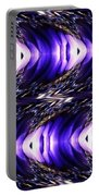 Blue Poppy Fish Abstract Portable Battery Charger