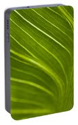 Calla Lily Stem Close Up Portable Battery Charger