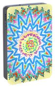 Colorful Signature Art Chakra Round Mandala By Navinjoshi At Fineartamerica.com Rare Fineart Images  Portable Battery Charger