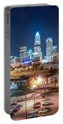 Charlotte City Skyline Night Scene Portable Battery Charger