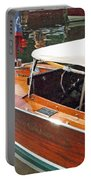 Chris Craft Runabout On Geneva Portable Battery Charger