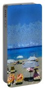 Beach At The City Of Rhodes Portable Battery Charger