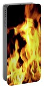 Close-up Of Fire Flames Portable Battery Charger