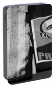 Commercialization Of The President Of The United States Of America In Black And White Portable Battery Charger