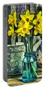 Daffodils Portable Battery Charger by Edward Fielding