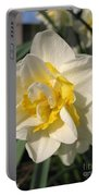 Double Daffodil Named White Lion Portable Battery Charger