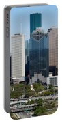 Downtown Houston Skyline Portable Battery Charger