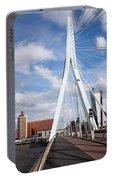 Erasmus Bridge In Rotterdam Portable Battery Charger