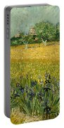 Field With Flowers Near Arles Portable Battery Charger