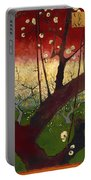 Flowering Plum Tree Portable Battery Charger