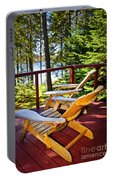 Forest Cottage Deck And Chairs Portable Battery Charger