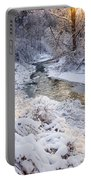 Forest Creek After Winter Storm Portable Battery Charger