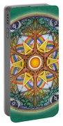 Heaven And Earth Mandala Portable Battery Charger