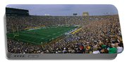 High Angle View Of A Football Stadium Portable Battery Charger