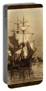 Historic Seaport Schooner Portable Battery Charger by John Stephens