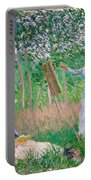 In The Woods At Giverny Portable Battery Charger
