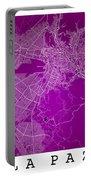 La Paz  Street Map - La Paz Bolivia Road Map Art On Colored Back Portable Battery Charger