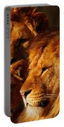 Lion Family Close Together Portable Battery Charger