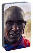 Maasai Man Portrait In Tanzania Portable Battery Charger